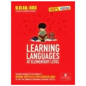 D.EL.ED-503 LEARNING LANGUAGES (AT ELEMENTARY LEVEL) Book in English Medium