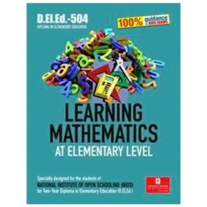 NIOS DELED 504: Learning Mathematics at Elementary Level book in English Medium