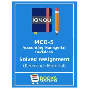Ignou M.Com Solved Assignments