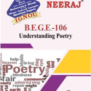 IGNOU BEGE 106 Book (Understanding Poetry)
