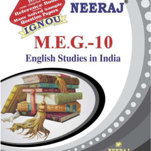 IGNOU MEG 10 Book (English Studies in India)