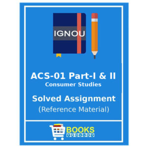 IGNOU ACS 1 Solved Assignment in English Medium
