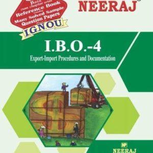 IBO4-Export-Import Procedure & Documentation (IGNOU help book for IBO-4 in English Medium )