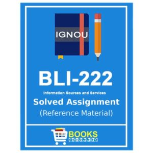 IGNOU BLI 222 Solved Assignment