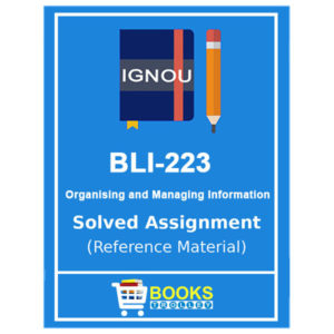 IGNOU BLI 224 Solved Assigment