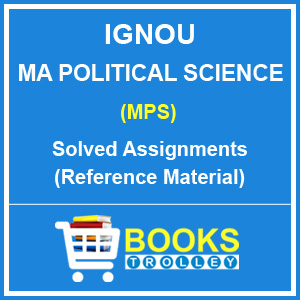 IGNOU MA Political Science Solved Assignments 2018-19
