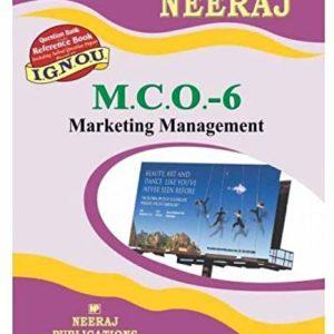 MCO-6 Marketing Management -English - (IGNOU Help Book For MCO-6 In English medium,MCOM IGNOU)