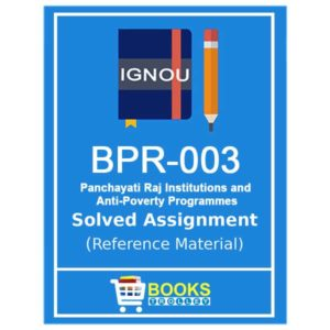 IGNOU BPR 3 Solved Assignment