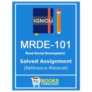 IGNOU MRDE 101 Solved Assignment (PGDRD)