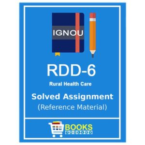 IGNOU RDD 6 Solved Assignment (PGDRD)