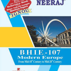 BHIE-7 : Modern Europe From Mid-18th Century to 20th Century (IGNOU Book in English Medium)