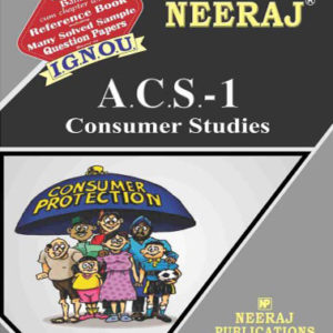 IGNOU ACS 1 Book In English Medium