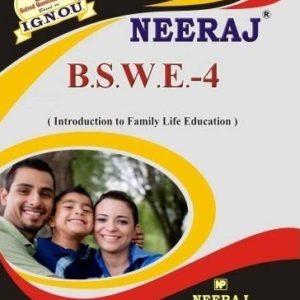 IGNOU BSWE 4 Book in English medium