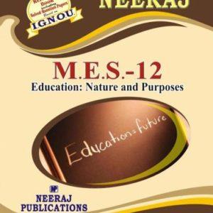 IGNOU MES 12 Book in English Medium