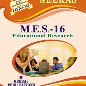IGNOU MES 16 Book in English Medium