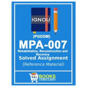 IGNOU MPA 7 Solved Assignment