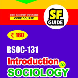 IGNOU BSOC 131 Book in English Medium (Introduction to Sociology)